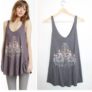 WILDFOX | Indiana Chandelier Tank Top | Gray | S